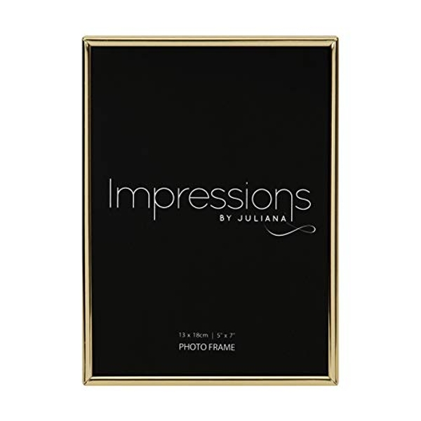 """5"""" x 7"""" - Impressions Brass Plated Thin Photo Frame"""