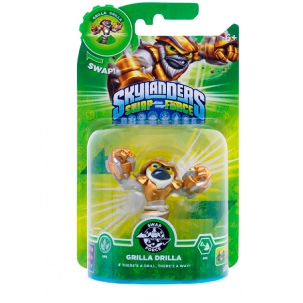 Grilla Drilla (Skylanders Swap Force) Swappable Life Character Figure [Damaged Packaging]