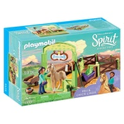 Playmobil Dreamworks Spirit PRU & Chica Linda with Horse Stall