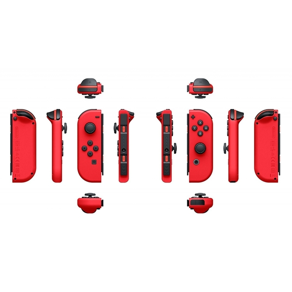 a8c19a79deaa4 Nintendo Switch Console with Red Joy-Con Controllers + Super Mario Odyssey  - Image 7