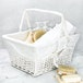 Willow Storage Basket with Cotton Lining | M&W White - Image 3