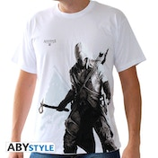 Assassin's Creed - Connor Stand Up* Men's Large T-Shirt - White