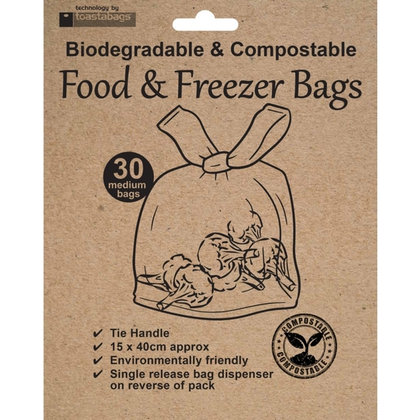 Planit Eco Friendly Freezer Bags Pack 30
