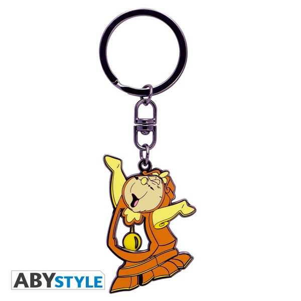 Disney - The Beauty & The Beast Cogsworth Moving Keychain