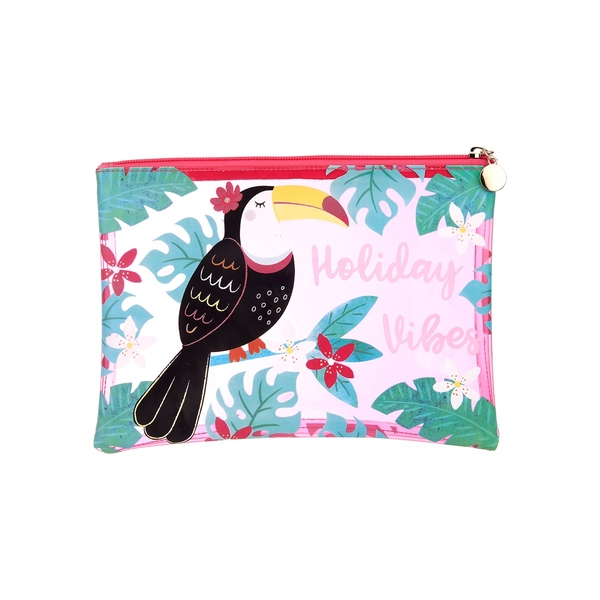 Sass & Belle Tiki Toucan Holiday Vibes Pouch