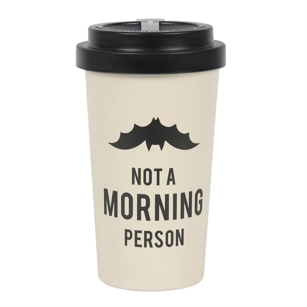 Not a Morning Person Bamboo Mug with Sleeve