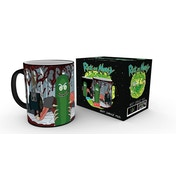 Rick and Morty Pickle Rick Heat Change Mug
