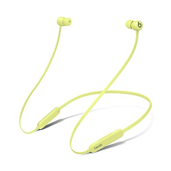 New Beats Flex Wireless Earphones ? Apple W1 Headphone Chip, Magnetic Earbuds, Class 1 Bluetooth, 12 Hours of Listening Time, Built-in Microphone - Yellow (Latest Model)