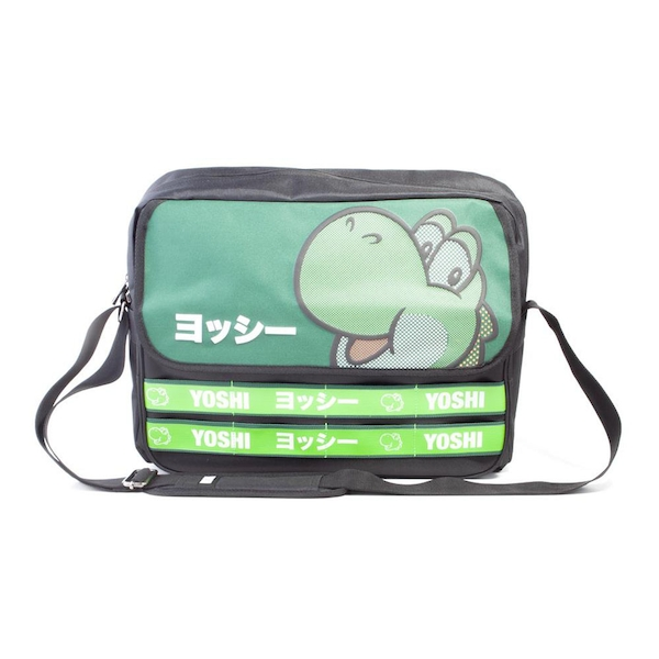 Nintendo - Yoshi Taped Unisex Messenger Bag - Black/Green