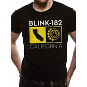 Blink 182 - California State Unisex Small T-Shirt - Black