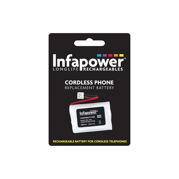 Infapower Rechargeable Ni-MH Battery for Cordless Telephones 3x AAA 3.6v 600mAh