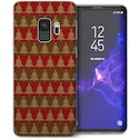 CASEFLEX SAMSUNG GALAXY S9 CHRISTMAS TREE KNIT JUMPER (BROWN/RED) CASE / COVER (3D)