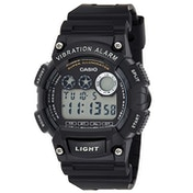 Casio W735H/1A Mens Digital Sports Watch Alarm Stopwatch 100M Black Resin