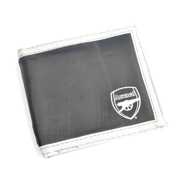 Arsenal Multi Pocket Black Canvas Crest Wallet