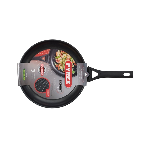 Pyrex Expert Stainless Steel Black and Grey 28 cm