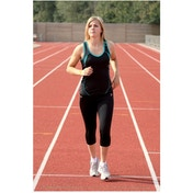 PT Ladies Running Vest Black/Turquoise 12 (36inch)