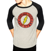 Dc Originals - Flash Central City Men's X-Large Baseball T-Shirt - White