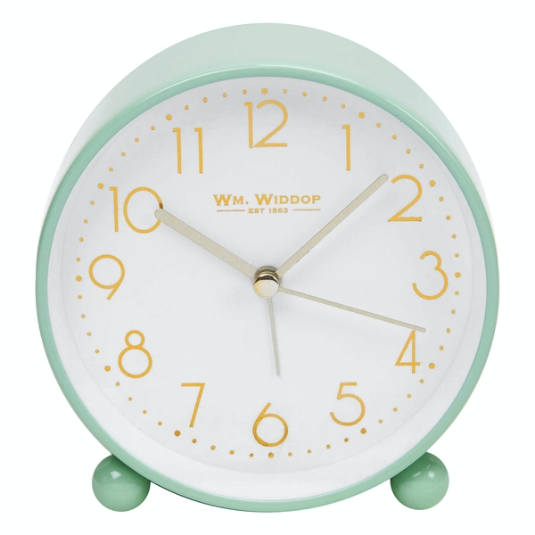 Duck Egg Metal Alarm Clock with Gold Dial