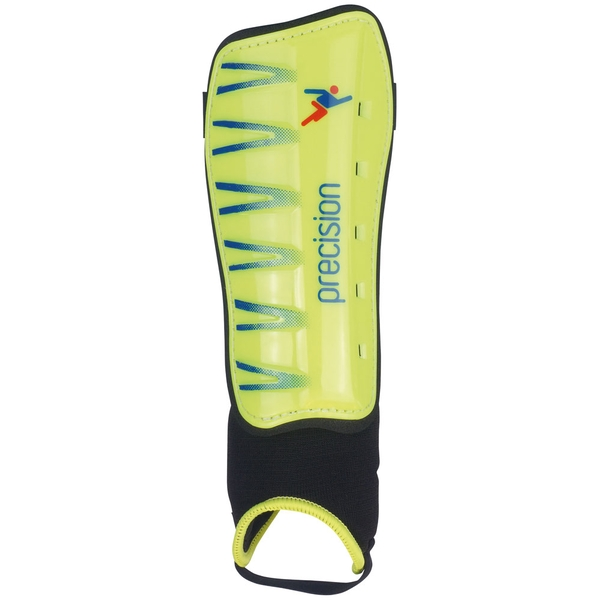 Precision Pro Shin & Ankle Pads Fluo/Lime - Medium