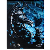 Small Rock Dragon Canvas Picture by Anne Stokes