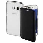 Hama Clear Booklet Case for Samsung Galaxy S7 edge, black