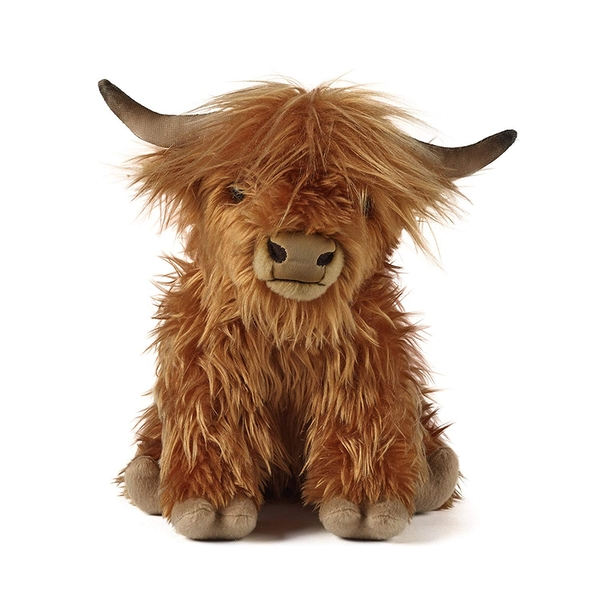 Living Nature Soft Toy - Plush Highland Cow Soft Toy With Sound (Large)