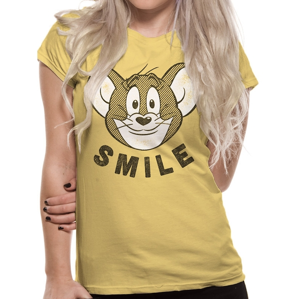 Tom And Jerry - Smile Men's X-Large T-shirt - Yellow