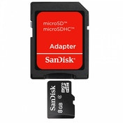 SanDisk Flash memory card 8 GB microSDHC SDSDQM-008G-B35A