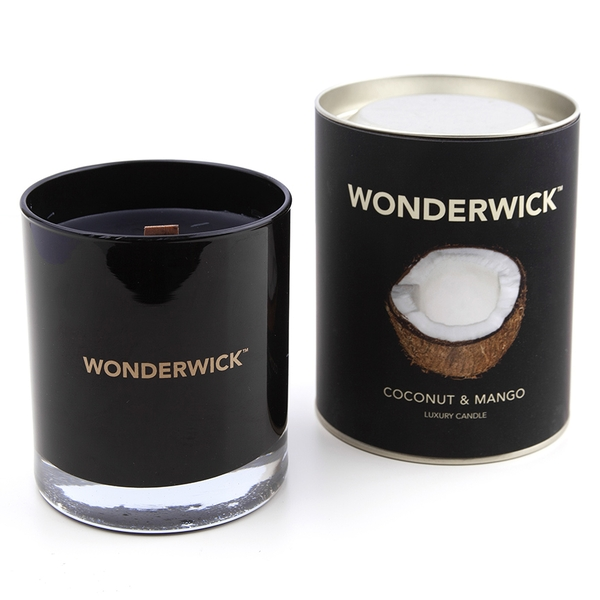 Coconut & Mango (Wonderwick) Noir Glass Candle
