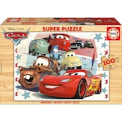 Disney Pixar Cars Lightning McQueen and Friends Wooden Jigsaw Puzzle (100pcs)