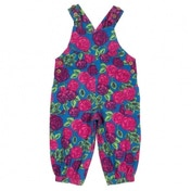 Kite Kids Baby-Girls 12-18 Months Tea Rose Floral Dungarees