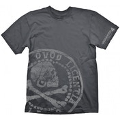 Uncharted 4 Pirate Coin Oversize Print T-shirt Grey Large