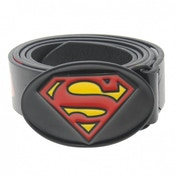 DC Comics Superman Print Belt Mens Black Large