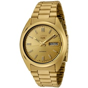 Seiko SNXS80K 5 Mens Automatic Watch Gold with Gold Face