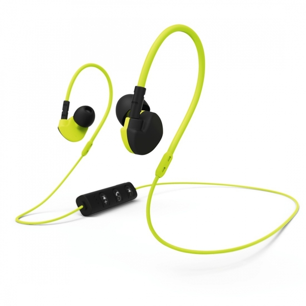 Hama Active BT Clip-On Sport Earphones Black/Yellow