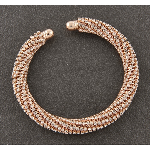 Sparkle Mesh Rose Gold Plated Bracelet