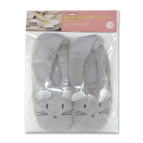 Mouse Heat Pack Toesties Warmer Slippers (One Size)