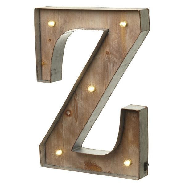 Z With Led Letter By Heaven Sends