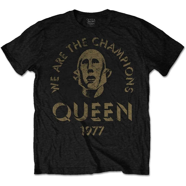 Queen - We Are The Champions Unisex Small T-Shirt - Black