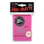 Ultra Pro Pro Matte 50 Bright Pink Sleeves DPD - 12 Packs