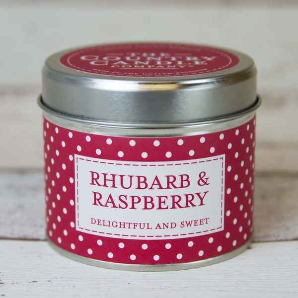 Rhubarb & Raspberry (Polka Dot Collection) Tin Candle