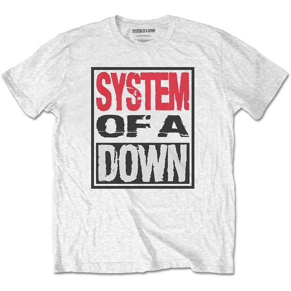 System Of A Down - Triple Stack Box Men's Small T-Shirt - White