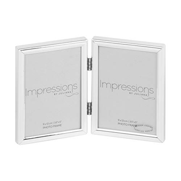 "Impressions Silver Plated Double Photo Frame - 3.5"" x 5"""