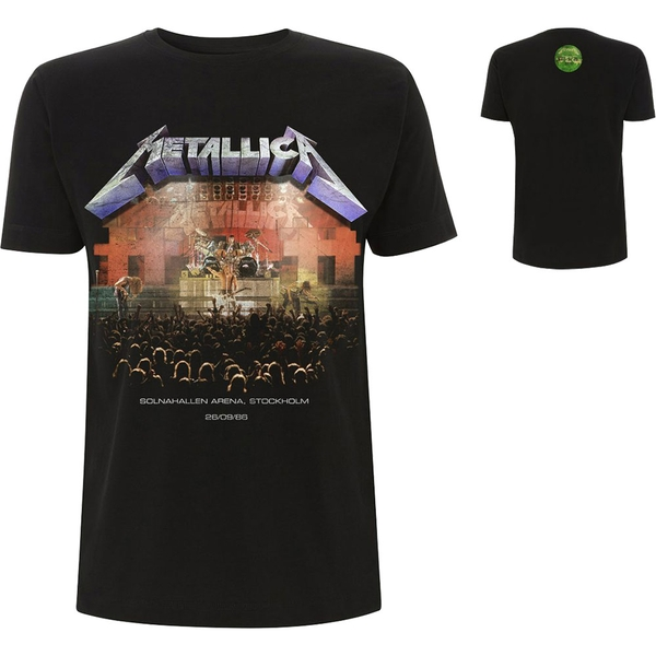 Metallica - Stockholm '86. Men's XX-Large T-Shirt - Black