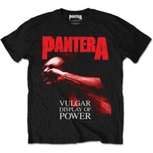 Pantera Red Vulgar Mens Black T Shirt: Large