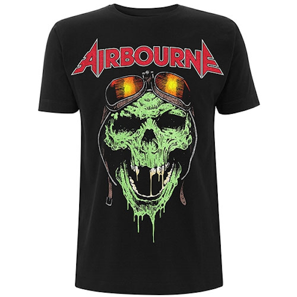 Airbourne - Hell Pilot Glow Unisex Large T-Shirt - Black