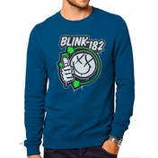 Blink 182 - Spelled Out Men's XX-Large Crewneck Sweatshirt - Blue