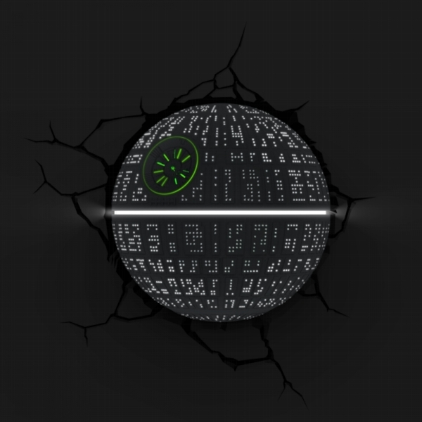 Ex-Display Death Star 3D Deco Light (Star Wars) by 3D Light FX Used - Like New - Image 4