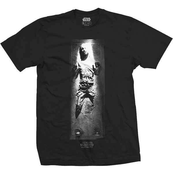 Star Wars - Han in Carbonite Unisex Large T-Shirt - Black