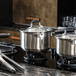 Set of 3 Stainless Steel Saucepans | M&W - Image 2